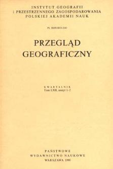 Przegląd Geograficzny T. 62 z. 1-2 (1990)