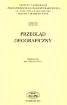 Przegląd Geograficzny T. 74 z. 3 (2002)