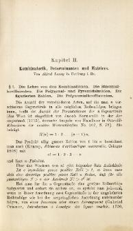 Kombinatorik, Determinanten und Matrices