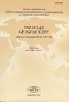 Przegląd Geograficzny T. 82 z. 4 (2010) Spis treści