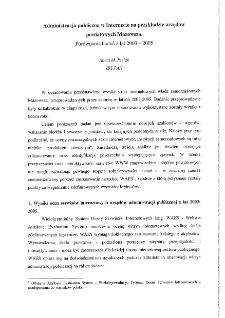 Administracja publiczna w Internecie na przykładzie Mazowsza.Porównanie badań z lat 2003-2005