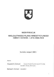 Weryfikacja wieloletniego planu inwestycyjnego gminy Łochów - lata 2009 - 2015