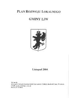 Plan rozwoju lokalnego gminy Liw