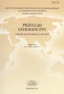 Przegląd Geograficzny T. 84 z. 1 (2012)