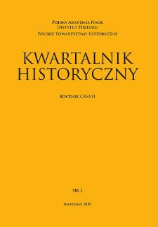 Kwartalnik Historyczny R. 127 nr 3 (2020)