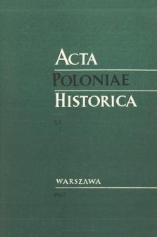 Acta Poloniae Historica T. 15 (1967)