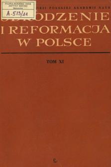 Odrodzenie i Reformacja w Polsce T. 11 (1966)