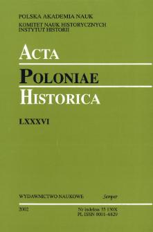 Acta Poloniae Historica T. 86 (2002), Discussions