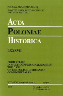 Acta Poloniae Historica T. 87 (2003), Studies