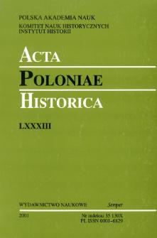 Acta Poloniae Historica T. 83 (2001)