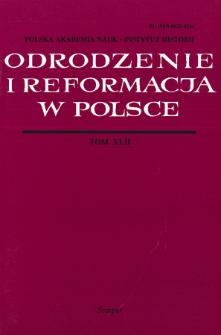 Odrodzenie i Reformacja w Polsce T. 42 (1998)