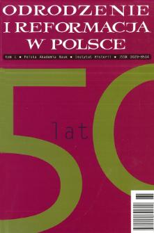 Odrodzenie i Reformacja w Polsce T. 50 (2006)