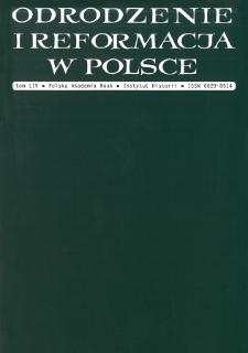 Odrodzenie i Reformacja w Polsce T. 54 (2010)