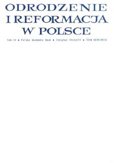 Odrodzenie i Reformacja w Polsce T. 55 (2011)
