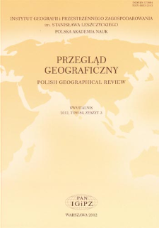 Przegląd Geograficzny T. 84 z. 3 (2012)