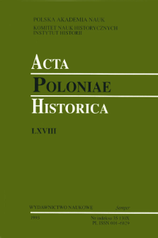 Acta Poloniae Historica. T. 68 (1993)