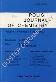 Polish Journal of Chemistry Vol. 74 no. 4 (2000)