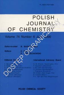 Polish Journal of Chemistry Vol. 74 no. 6 (2000)