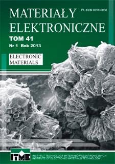 Materiały Elektroniczne 2013 = Electronic Materials 2013