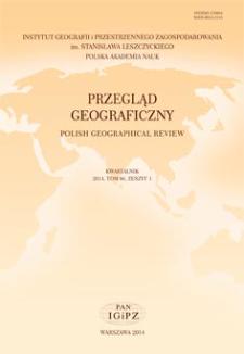 Przegląd Geograficzny T. 86 z. 1 (2014)