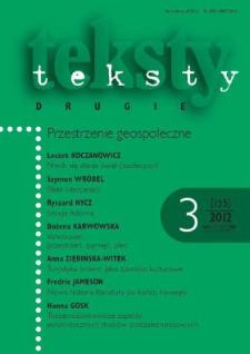 Teksty Drugie Nr 3 (2012)