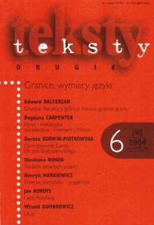 Teksty Drugie Nr 6 (2004)