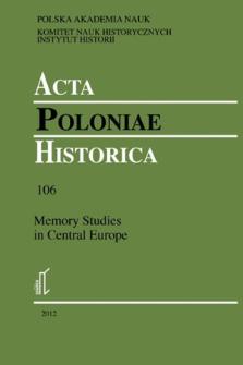 Acta Poloniae Historica. T. 106 (2012)