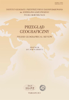 Przegląd Geograficzny T. 89 z. 3 (2017)