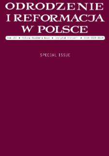Odrodzenie i Reformacja w Polsce T. 61 (2017) Special Issue